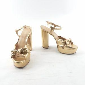 Michael Kors Women's Pippa Platform Pale Gold 8.5